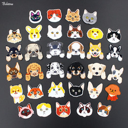 $enCountryForm.capitalKeyWord Australia - Cartoon Cute Dogs Iron on Patches for Cloth Embroidery Badges Applique for Kids Jacket Jeans Backpack Stickers Fabric