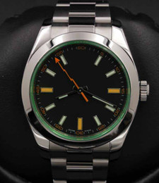 Best quality products online shopping - 19 Men s Luxury Products Best Quality mm Stainless Steel Green Crystal Black Index Movement Automatic Mens Sport Stainless Watches