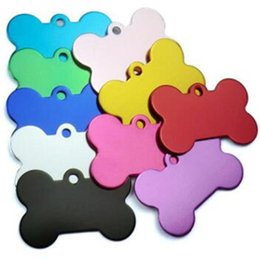 $enCountryForm.capitalKeyWord NZ - Free Shipping Hot Multicolor 1mm Dogs Tag Bone Shape Design Pet ID Card Alloy Cat Dog Tags Pets Supplies Factory Direct 045wg