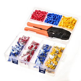 $enCountryForm.capitalKeyWord Australia - Freeshipping 900Pcs Assorted Crimp Terminals Insulated Male Female Spade Wire Terminals Butt Connectors Kit +1Pc Electrical Crimping P