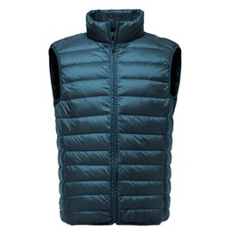 $enCountryForm.capitalKeyWord Australia - 2019 New Men Sleeveless Jacket Winter Ultralight White Duck Down Vest Male Slim Vest Men's clothes Windproof Warm Waistcoat