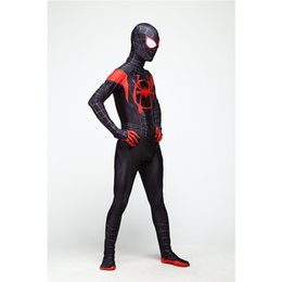 super suits NZ - Halloween Men and Kid Clothing Cosplay Kid Uniforms Men Bodysuit Long Sleeve Spandex Super Hero Spider-Man Costume Party Suit Size S-2XL