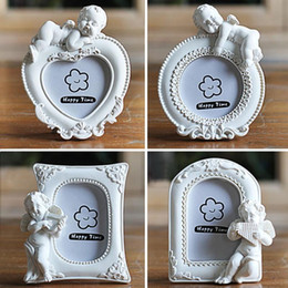 lovely heart photos Australia - Heart Shaped Mini Picture Frame for Lovely Baby, Photo Frames Bookstores Coffee Shops Home Decor Creative Wedding Photo Frame