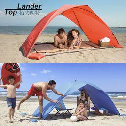 Three Season Tents Australia - Sun Shelter Tent for Beach Summer Outdoor UV Tarp Sun Shade Strandtent Cabana Camping Fishing Awning Sunshade Beach Tent Canopy