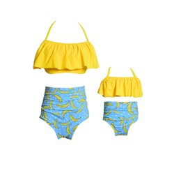 $enCountryForm.capitalKeyWord NZ - 2019 New Fashion Mother Daughter Swimsuit High Waist Family Matching Outfits Mommy and Me Swimwear Mom Baby Girl Sisters Summer Clothes
