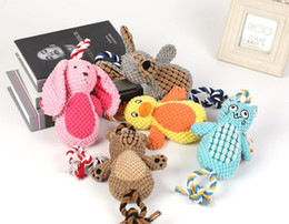 $enCountryForm.capitalKeyWord Australia - Pet dog puppy cotton rope toy plush toy sound toy duck rabbit mixed styles