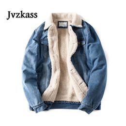 Breast size model online shopping - Jvzkass new lamb hair denim jacket couple models wash scratches denim clothing cotton clothing large size cotton coat Z339