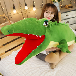 Crocodiles Alligator Toys Australia - new crocodile plush toy giant alligator pillow doll sleeping pillow for kids friend birthday gift 160cm 190cm DY50605