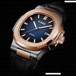 Discount geneva men business watch - PLADEN Business Men's Wristwatch Geneva Leather Bracelet Watch Rose Gold Chinese Brand Quartz Hand Watch for Men Gi