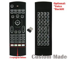 Optical Player Australia - 10pcs Custom Made MX3 T3 RF 2.4GHz Re-program Wireless Air Mouse Mini Keyboard Backlit Remote Controller Game Player Gyroscope G-sensor PC