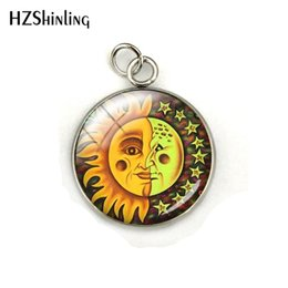 Gift Craft Christmas Ornament Australia - 2019 Beauty Sun Moon Star Planet Dome Glass Cabochon Hand Craft Stainless Steel Pendant Charms Fashion Jewelry Ornaments