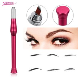 $enCountryForm.capitalKeyWord Australia - Microblading Pen Eyebrow Tattoo Manual Pen Permanent Makeup Tool Tattoo Supply Eye Brow Tattoo Microblade Accessories