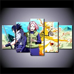 $enCountryForm.capitalKeyWord Australia - Naruto Uzumaki Naruto,5 Pieces The Latest Most Popular High-definition Canvas Printed Home Decorative Art  Unframed   Framed