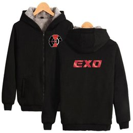 Exo jackEt online shopping - Kopo EXO Thick Winter Warm zipper Hoodie Sweatshirt Jacket Women Men Casual High Quality Sweatshirt Fleece Oversized Hip hop Hoodies Top