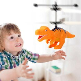 Boys Toys Helicopter Australia - Electric RC Flying Toy Infrared Sensor Dinosaur Model Helicopter USB Charging New Fashion Dinosaur Shape Helicopter Toy