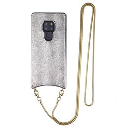 Phone Chain For Iphone Australia - Fashion Phone Case for iphone xs max electroplated flash drill crossbody chain protection shell for iphone 6 7 8 XS XR HuaWei P30 Back Cover