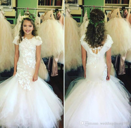 $enCountryForm.capitalKeyWord Australia - Mermaid Lace Toddler Flower Girl Dresses Birthday infant Tutu Kids Pageant First Communion Dress Long Baby Prom Dresses Girl Wear Gowns