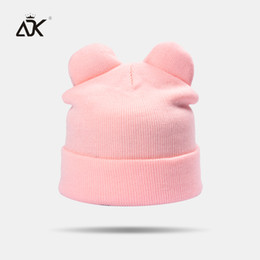 Yellow Beanies Australia - Candy Color Women'S Hats Female High Quality Skullies Beanies 2018 New Casual Acrylic Knitted Hat Warm And Soft Ear Hat Y18110503
