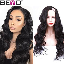 24 Inch Wigs Australia - U Part Wig Glueless Human Hair Wigs For Women Brazilian Body Wave Wig 10-24 Inch 130 150 180 Density Natural Color Remy Beyo