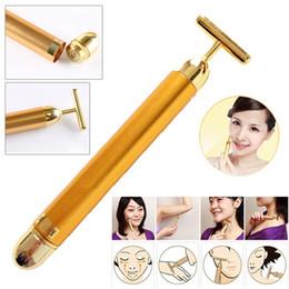 Hot Bar Australia - Hot Sale Golden Face Massager 24K Beauty Bar Massager Golden Energy Face Firming Derma Facial Rollers Thin Face Stick