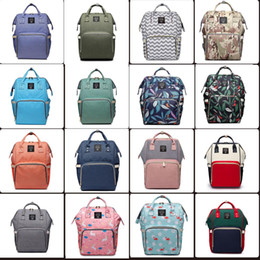 Wholesale 32 colors Mummy Maternity Nappy Bag Large Capacity Baby Bag Travel Backpack Desiger Nursing Bag for Baby Care Diaper Bags mini order