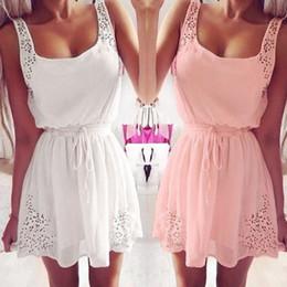 $enCountryForm.capitalKeyWord Australia - Sexy New Summer Women Muqgew Casual Dresses Sleeveless Short Mini Dress White Color Hot Sale designer clothes