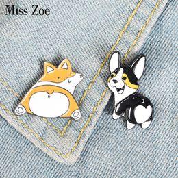 $enCountryForm.capitalKeyWord NZ - Corgi Butt Enamel Pin Sweety Cute Dogs Badge Brooch Bag Clothes Lapel pin Cartoon Animal Jewelry Gift for Corgi fans Kids Friend