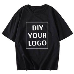 $enCountryForm.capitalKeyWord Australia - Wholesale Customized Print T Shirts Half Sleeve Homme Tees Drop Shipping Men Clothing Diy Your Logo Harajuku Cotton Tshirts Q190518