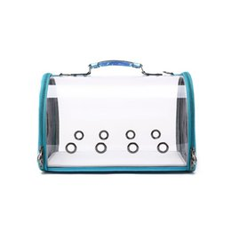 $enCountryForm.capitalKeyWord Australia - PVC Material New Casual Breathable Clear Pet Carrier Handbag Transparent Shoulder Crossbody Bag for Small Dog Cat