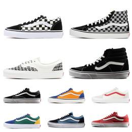 3c96ea17e Venta al por mayor Furgonetas skool sk8 miedo a dios hola hombres mujeres  zapatillas de lona negro blanco YACHT CLUB MARSHMALLOW zapatos de skate de  moda