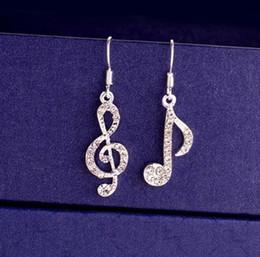 $enCountryForm.capitalKeyWord NZ - 18K White Gold Plated Cute Rhinestone Crystal High-heel Shoe Musical Symbol Earrings for Women Wedding Jewelry Cheap Wholesale Price