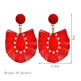 asian style tassels NZ - 2019 New Tassel Earrings for Women Big Fringe Earings Fashion Jewelry Holiday Female Summer Style Hanging Earrings E2886