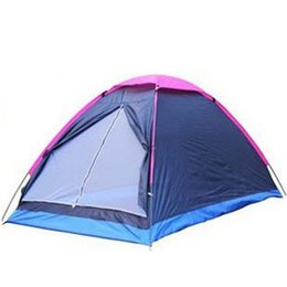 Family tent canvas online shopping - Double Person Tent Single Layer Shelters Beach Park Camping Shelters Tents Rain Proof Oxford Cloth Portable Tent ZZA384