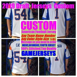 33d2505ddd0 Custom 2019 Draft college american football jerseys womens youth kids mens  big and tall stitched authentic jersey 4xl 5xl 6xl 7xl 8xl gear