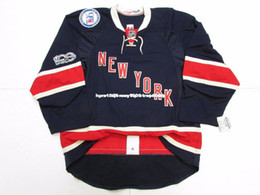 new york rangers jerseys UK - Cheap custom NEW YORK RANGERS THIRD 100th ANNIVERSARY TEAM ISSUED JERSEY stitch add any number any name Mens Hockey Jersey GOALIE CUT 5XL
