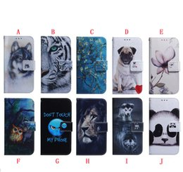 huawei flower Australia - Cartoon Wallet Leather Case For Iphone 11 PRO MAX Huawei Y6P Y5P P Smart 2020 S P40 LITE 5G Flower Panda OWL Dog Tiger Stand Phone Cover