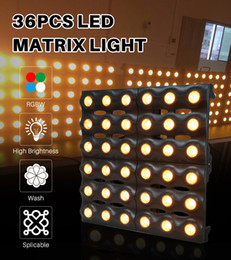 wash effect Australia - MOKA LED Matrix Light 36X3w Wash Wall Light Stage Lighting Effect RGBW 4in1 Beam Dj Light Pixel Control LED Panel for Lighting Shows Disco