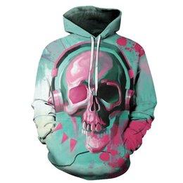 Belt Painting Australia - 2019 Xmas 3D Painted Colorful Skull Hoodies Sweatshirt Unisex Autumn Winter Casual Plus Size 3D Hoody Tops Sportswear Tracksuit