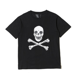 $enCountryForm.capitalKeyWord Australia - 18SS Vlone ASAP ROCKY Christmaas Tee Black Skull Printed Loose T-shirts Hip Hop Short Sleeve Cotton Clothes O-neck Fashion HFYTTS039