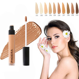 oil free liquid foundation Canada - PHOERA Scars Acne Cover Smooth Concealer Cream 10 Colors Face Eyes Foundation Makeup Lasting Cover Cosmetic 480 pcs lot DHL free