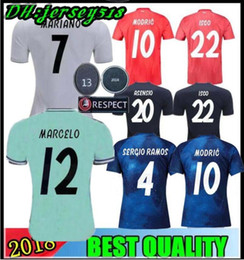 3f3b2fe2a 19 20 Real Madrid soccer jersey Asensio SERGIO MODRIC RAMOS MARCELO BALE  KROOS ISCO Champion league football shirts Adults and kids 2019