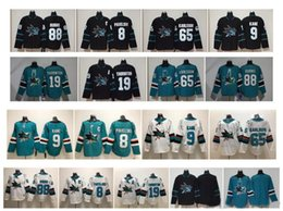 San Jose Sharks Jersey 65 Erik Karlsson jersey 9 Evander Kane 19 Joe  Thornton 8 Joe Pavelski 88 Brent Burns Black Green Stitched NHL Hockey cc8533ae2