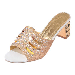 c7d21ae4a61 High-heeled Roma Crystal sandals spring summer women s diamond sandals sexy open  toe shoes plus slippers