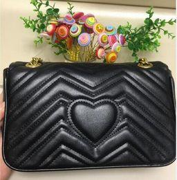 Color Leather Bags Australia - 2019 High Quality Famous designer Shoulder bag Pu leather Fashion chain bag Cross body Pure color Female women's handbag shoulder bag