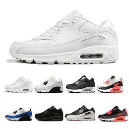 American Leather Shoes Australia - 2018 HY PRM QS 90 Men Women Running Shoes 90s HyperS fuse American Flag Black White Navy fashion luxury mens women designer sandals shoes
