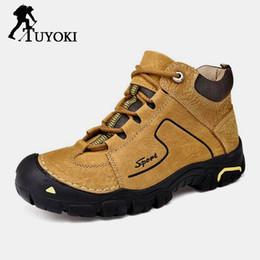 $enCountryForm.capitalKeyWord Australia - Tuyoki Real Leather Winter Warm Fur Daily Man Hiking Shoes Men Travel High Quality Climbing Trekking Sneakers Shoes Size 38-44