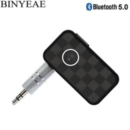 bluetooth speaker car Canada - Mini Bluetooth 5.0 A2DP QCC3003 Handsfree Aux 3.5mm Car Auto Kit Wireless Music Receiver Stereo Home Car Speaker Audio Adapter