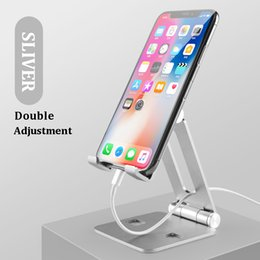 table mount ipad NZ - Universal Aluminum alloy Table Cell Phone Support holder For Phone Desktop Stand For Ipad Samsung iPhone Phone Holder Mount