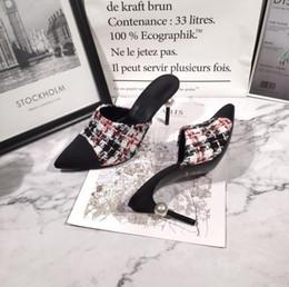 $enCountryForm.capitalKeyWord Australia - Newest 2019 brand design style Leather Women Stud Sandals Slingback Pumps Ladies Sexy High Heels 8.5cm Fashion rivets shoes T-strap