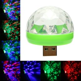 $enCountryForm.capitalKeyWord Australia - USB LED Car Atmosphere Lamp Color Change RGB Ball Lamp Disco Karaoke DJ Stage Light Holiday Party Lighting Car-styling